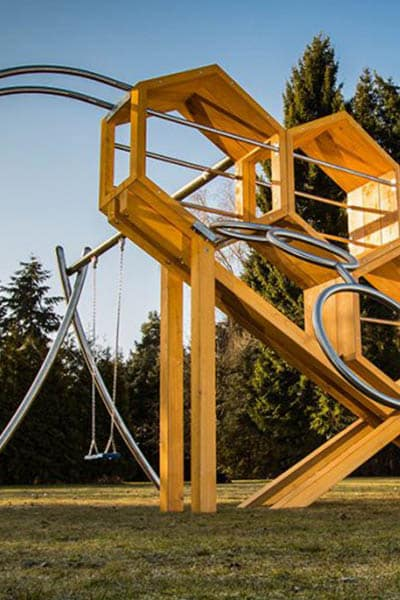 structure stilum incroyable pour aires de jeux