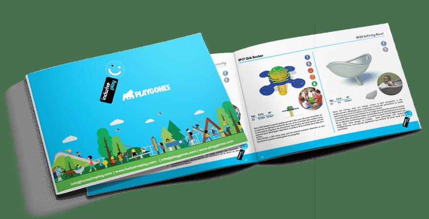 nouveau catalogue pour aire de jeux inclusive - Inclusive Play par Playgones